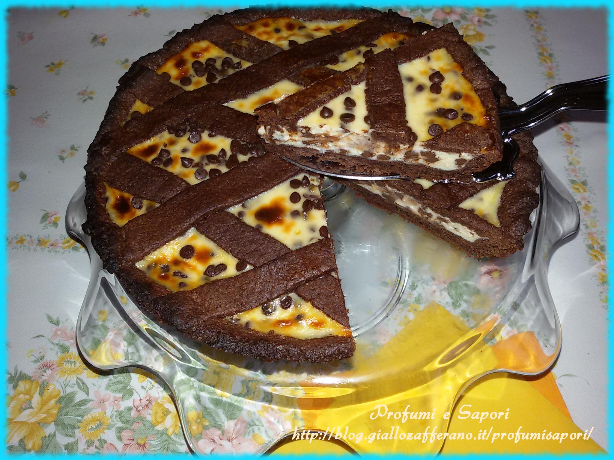 Crostata Al Cacao Con Crema Di Ricotta E Mascarpone Ricetta Ed