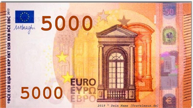 Zum euro ausdrucken schein Euro Scheine